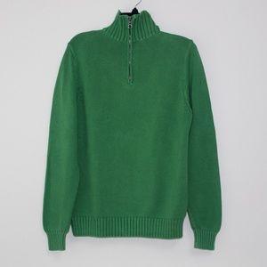 J. Crew Green Men's Sweater - Size Medium